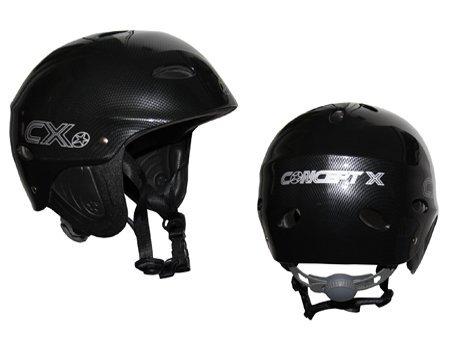 Concept X Kite + Surf Casco CX Pro Casco de deportes de agua, de carbono-Disponible en blanco o negro-Primera elección para todos los que aman su deporte y que aún lo quiere para jugar durante mucho tiempo Excepcional-un buen ajuste, debido a l...