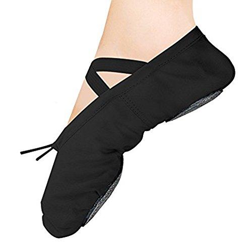 Ballettschuhe Ballettschläppchen Ballett Slipper Schuhe Praxis Ballett Tanzen Gymnastik Schuhe Ballett Flache Slipper Yoga Schuhe Schwarz 39 (Wohnungen Neue Schuhe Schwarze)