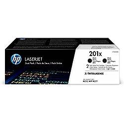 HP 201X (CF400XD) Multipack Original Toner (2x Schwarz) mit hoher Reichweite für HP Color Laserjet Pro M252, M274n, M277