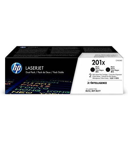 HP 201X (CF400XD) Multipack Original Toner (2x Schwarz) mit hoher Reichweite für HP Color Laserjet Pro M252, M274n, M277 (Hp Color Laserjet Black Toner)