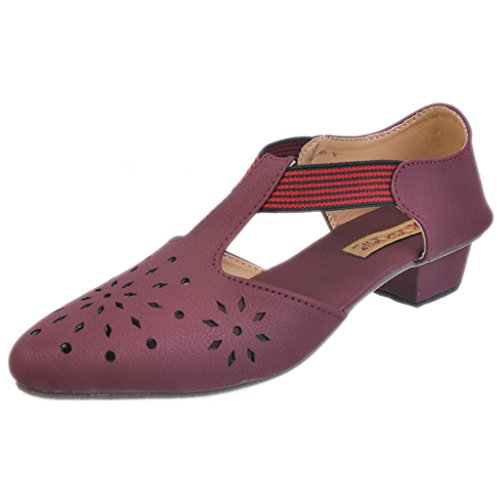 Jolly Jolla Women's Charming Maroon Synthetic Sandals -6 UK