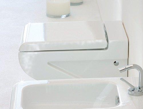 artceram La Fontana Wand-WC weiss / Seitenverkleidung weiss