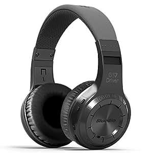 Bluedio H-Turbine Wireless 4.1 Headphones Powerful Bass Over-Ear Headset Bulit-In Microphone-Retail Package Global Release (Black)