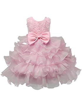 ❤️Kobay Kinder Baby Mädchen Blumen Geburtstag Hochzeit Brautjungfer-Festzug Prinzessin Abendkleid