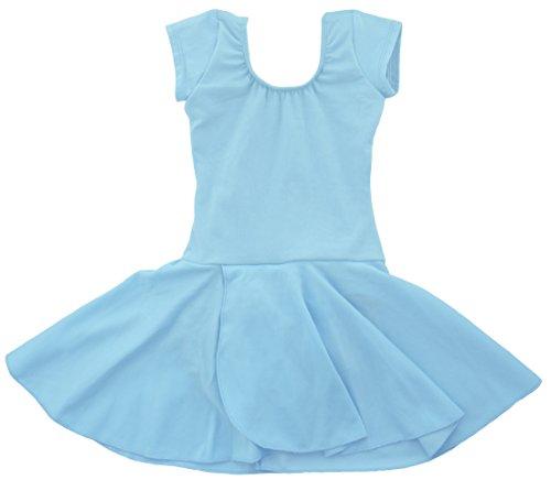 zarm Ballettkleid Ballettanzug mit Rock 104/110 Hellblau (Halloween-kostüme Elsa Frozen)