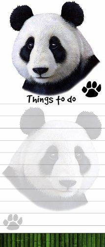 Für Verkauf Kostüm Panda - E&S Pets Panda magnetisch Liste Pads Einzigartige Form Sticky Notizblock Maßnahmen 8,5von 8,9cm