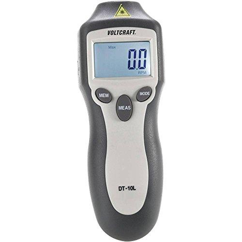 Misuratore di rotazione laser VOLTCRAFT® DT-10L 2-99 999 giri/min misuratore del numero di giri senza contattoCalibra