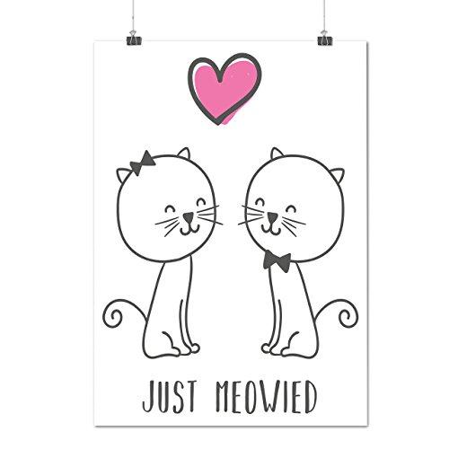 Niedlich Kätzchen Hochzeit Zeit Mattes/Glänzende Plakat A4 (30cm x 21cm) | Wellcoda