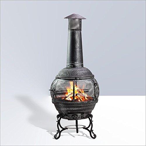 Grillkamin - 2 in 1 Grill und Gartenkamin - Terrassenkamin zum Grillen und Kaminfeuer (Weber Kugelgrill Smoker)