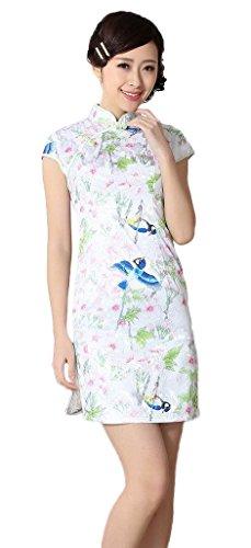 Robe chinoise manche courte