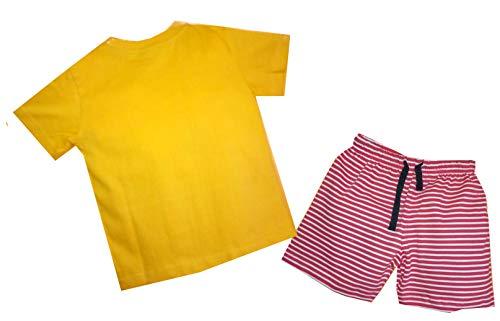 Shaishav wears Cotton Baby Boy's T-Shirt and Shorts Set (Mustard Yellow, 6-12 Months)