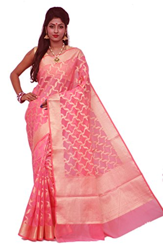 Asavari Rose Pink - Zari Patola - Moonga Chek Banarasi Saree
