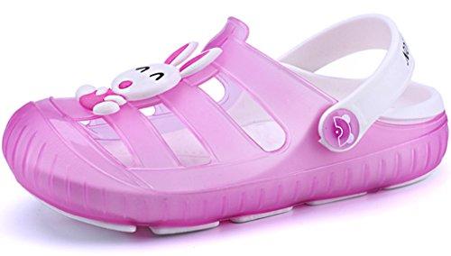 Gaatpot Zuecos para Unisex Niños Sandalia Zapatos Zapatillas Chanclas de Playa de Verano Pink (Rose) 27