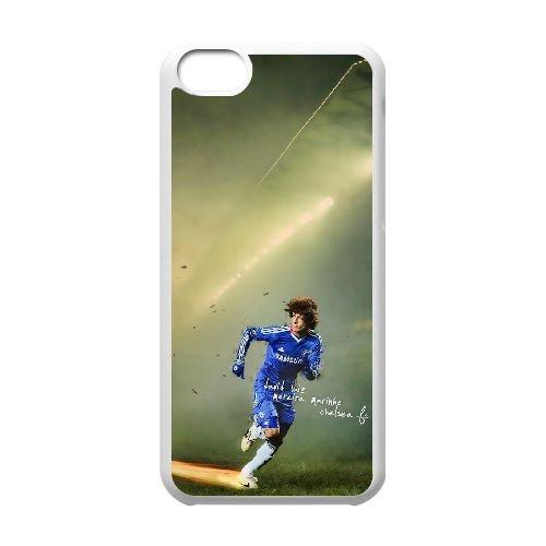 David Luiz coque iPhone 5C Housse Blanc téléphone portable couverture de cas coque EBDXJKNBO13342