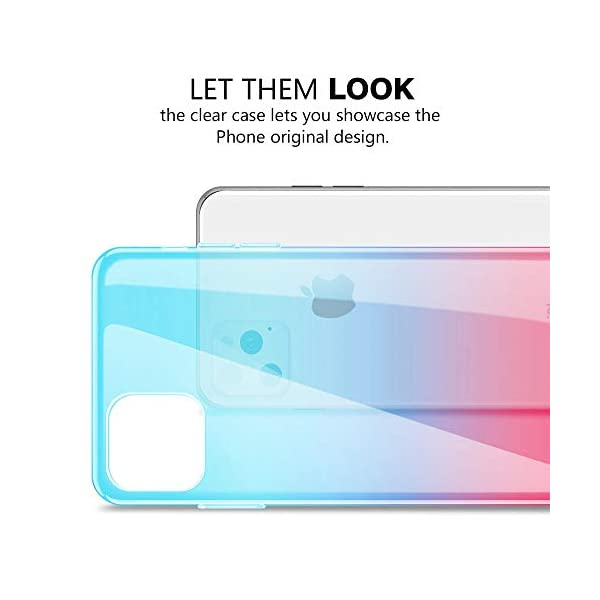 Oihxse Compatible with Samsung Galaxy S8+Plus Case Chic Clear Gradient Colour Design Ultra Slim Back Cover Skin, Soft Silicone Wireless Charge Shockproof Glitter TPU Bumper Shell-Blue Pink Oihxse 🌈 Slim fit with [Samsung Galaxy S8+Plus ONLY], do not fit for other models. This rubber silicone gel is easily access to all buttons and ports such as headphone jack, charger port, volume button, mute key, etc, while keeps the Samsung Galaxy S8+Plus sensitive response. 🌈 Designed as ultra thin chic [Crystal Clear Gradient Colour] appearance, not only can show the beauty of original smart phone, but also adds more unique taste and stylish sense. 🌈 Made from Soft [Shock Absorbing TPU]material, nontoxic and tasteless, which can protect your Samsung Galaxy S8+Plus from scratches, bumps, impacts, fingerprints and dings. 3