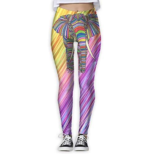 Yogahosen, Trainingsgamaschen,Animal ElepWomen's Yoga Pants 3D Print Workout Leggings for Indoor Or Outdoor