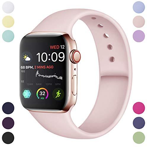 Hamile Cinturino Compatibile con Apple Watch 38mm 40mm, Cinturini Sportiva in Morbido Silicone di Ricambio per Apple Watch Series...