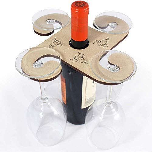 Azeeda 'Kuh mit Glocke' Weinglashalter / Flaschenhalter (GH00039648)