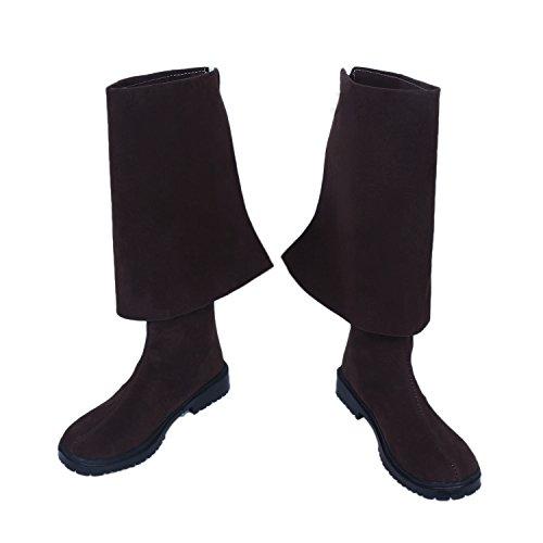 Herren Cosplay Stiefel Dunkel Lila Nubuk Leather Schuhe Halloween Verrücktes Kleid Für Erwachsene Male (Sparrow Jack Stiefel)