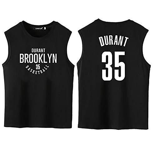 35 Knitterfrei Kleid Shirt (Basketballuniformweste, ärmelloses Freizeitsport-T-Shirt, 35. Trikot Nr. 11, Wettkampftrainingsanzug-black2-S)