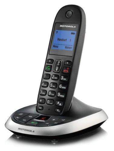 Motorola C2011 Schnurlostelefon mit digitalem Anrufbeantworter (30 Min) schwarz