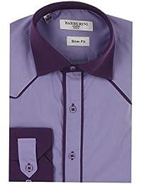 Chemise de Cérémonie pour Homme violette deux teintes