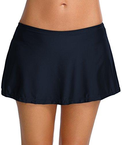 Bettydom Donna Nuoto Gonna femminile vestito Parte inferiore pantaloni Tankini cinque stili opzionali Nero
