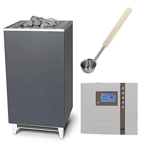 Saunaofen EOS CUBO+ incl. Econ D2 Saunasteuergeraet Bio EOS, inkl.Emotec L09R und exklusive Edelstahl-Saunakelle von ARTVION (12.0 kW)