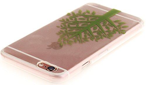 Nnopbeclik [Coque Iphone 6 Silicone / Coque Iphone 6S Apple ] Transparente élégant Style de Impression Couleur Motif Doux Backcover Case Housse pour Iphone 6 Coque Apple / Iphone 6S Coque Silicone (4. arbre6
