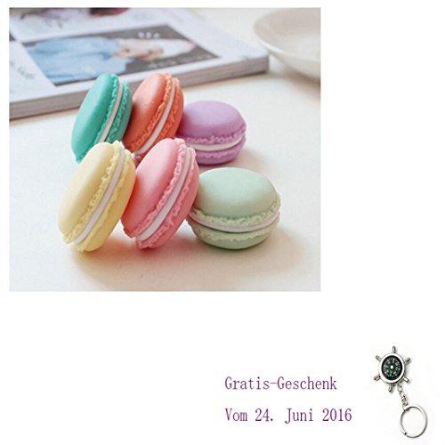 Culater® 6 STÜCK Mini nett Bunt macaron Kopfhörer Ohrringe Organizer Aufbewahrungskiste Kosmetiktasche