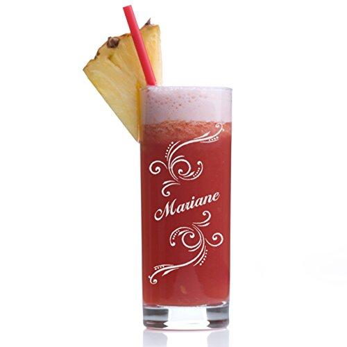 Stölzle Lausitz Wasserglas Longdrinkglas mit Gravur - Saftglas Barglas personalisiert mit Namen - Geschenk-Idee zum Geburtstag - Cocktail-Glas 405 ml