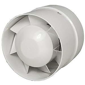 Extracteur d'air axial en ligne 10 cm, 110 m3/h