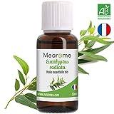 30 ML Huile essentielle d'EUCALYPTUS RADIÉ (Eucalyptus radiata) BIO - 100% Pure et Naturelle, Qualité supérieure certifiée Biologique, HEBBD, HECT - Distillée en France