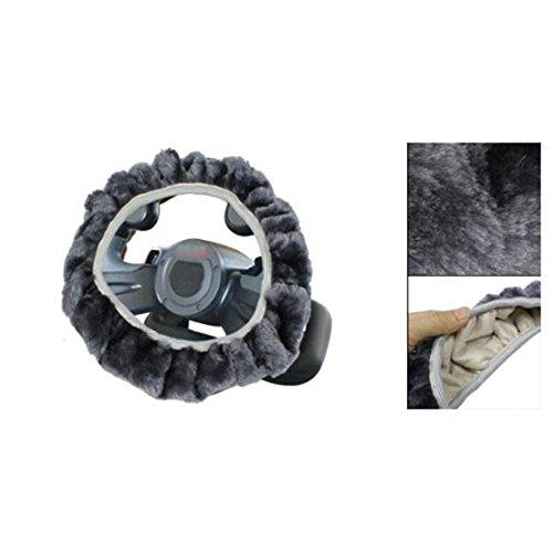 SODIAL (R) Gray Adjustable Non Slip Lenkung Wheeling Titelschutz fuer Auto Auto (Abdeckung Lenkrad Sodial)