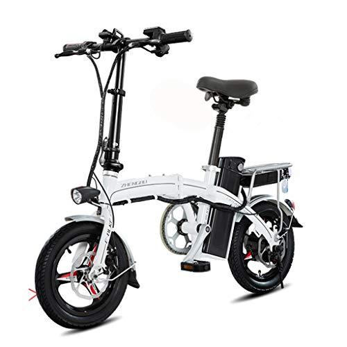 Bici elettriche Bicicletta Elettrica Pieghevole Ultra Leggera Piccola Batteria Auto per Adulti Mini Batteria al Litio Auto Elettrica, Gamma di Crociera 60-70 Km