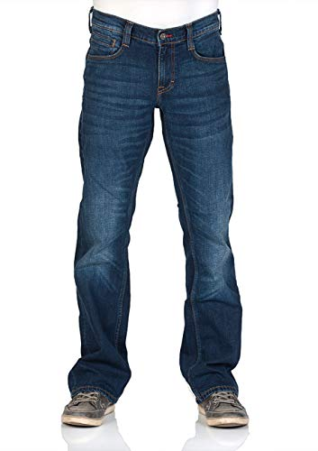 MUSTANG Herren Jeans Oregon - Bootcut - Blau - Denim Blue - Medium Blue - Mid Blue, Größe:W 38 L 36, Farbe:Mid Blue (1006280-882) -