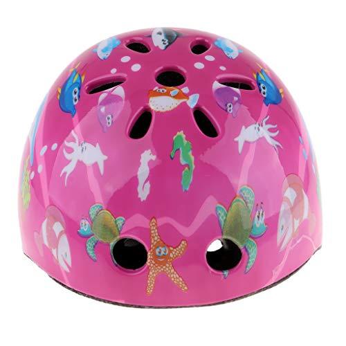 Baoblaze Kinder Sporthelm Skaterhelm Fahrradhelm Roller Sport Schutzhelm Kunststoff Mountainbikehelm - Rosa
