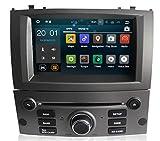 Sunshine Fly Touch screen capacitivo da 7 pollici Android 8.0 Quad Core 1024 * 600 2 DIN DVD Navi Autoradio GPS Stereo per Peugeot 407 2004-2010 Lettore audio Bluetooth FM AM Hotspot WiFi 3G SWC