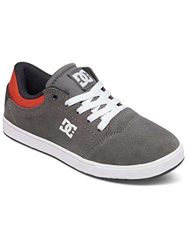 DC Shoes  Crisis B, Sneakers Basses garçon Grey/Black/Orange