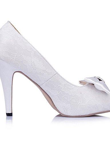 WSS 2016 Chaussures de mariage-Ivoire / Blanc-Mariage / Habillé / Soirée & Evénement-Talons / Bout Ouvert-Chaussures à Talons-Homme 4in-4 3/4in-ivory