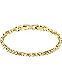 Swarovski Damen-Armreif teilvergoldet Kristall gold 17 cm - 5278353