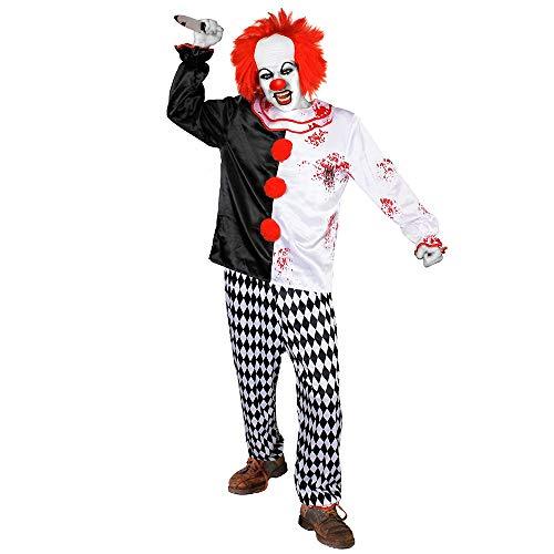 Clown Kostüm Coco - Erwachsene Killer Clown Kostüm Kostüm-Crazy Clown Kostüm perfekt Halloween-Kostüm, erhältlich in 5Größen: Small, Medium, Large, Xlarge, XXLarge