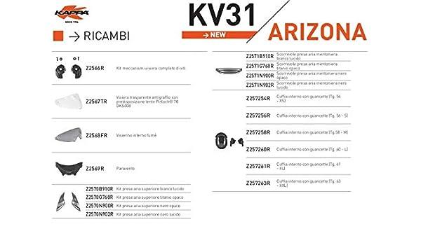 VISIERA TRASPARENTE PREDISPOSTA PER PINLOCK RICAMBIO KAPPA Z2567TR
