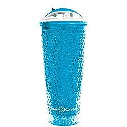 Grün Kantine 16Unze Perlen gefrierergeeignet Gel Cold Drink Tumbler, plastik, blau, 1 Stück