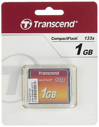 Transcend TS1GCF133 - Tarjeta de Memoria Compact Flash de 1 GB