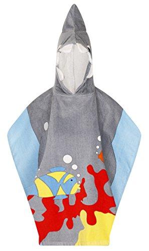 Badetücher für Kinder mit Kapuze, weiche Baumwolle Gr. onesize, hai (Kostüm Prinzessin Dora)