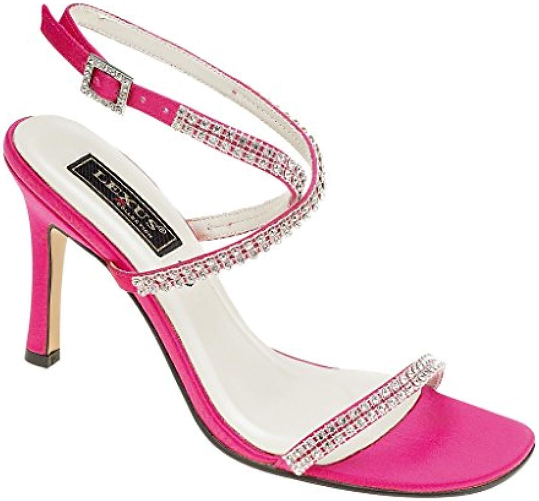 Ladies Lexus High Heel Fashion Sandal with Elegant Diamante Trim