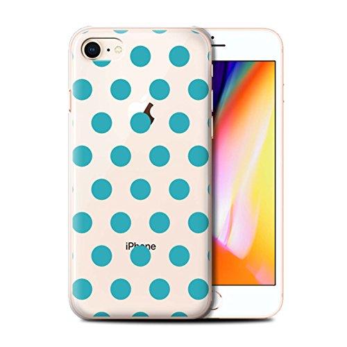 Coque de Stuff4 / Coque pour Apple iPhone 8 / Argent Design / Toqué à Pois Collection Sarcelle