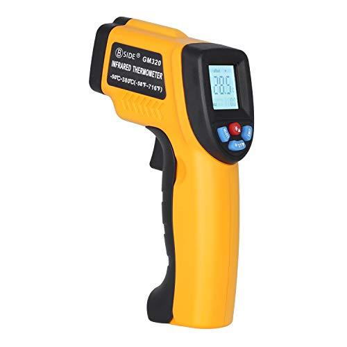 BSIDE GM320 Berührungsloses digitales Laser-Infrarot-Thermometer, Temperaturpistole, -50 °C bis 380 °C, für Grillen, Küche, Auto und Industrie