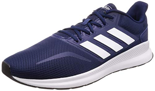 adidas Herren Falcon Laufschuhe,Blau (Dark Blue/Footwear White/Core Black 0),43 1/3 EU Blue Oval Pan